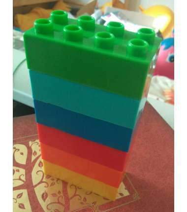 Конструктор 6 шість цеглинок (аналог Лего, розмір 3х6см)