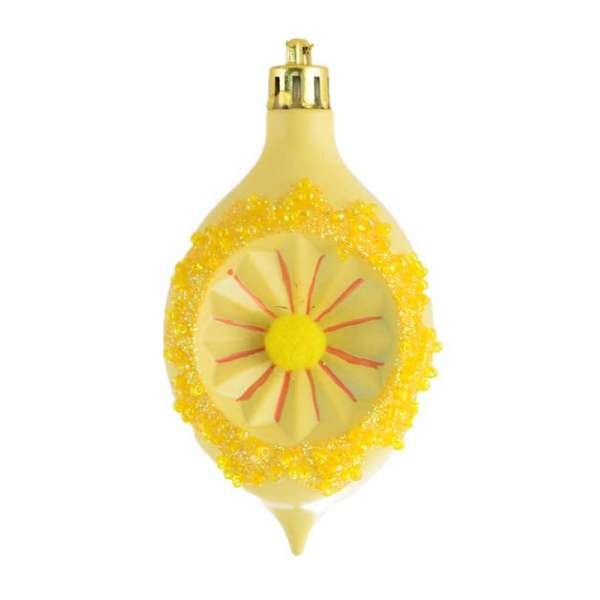 """Іграшка Yes! Fun новорічна """"Лимон"""" d-6 * 9.5 см, жовтий"""