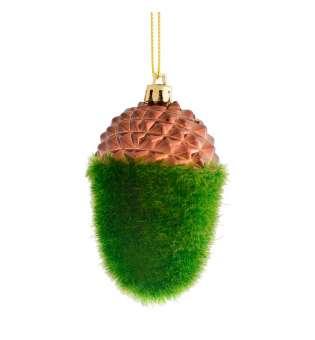 """Іграшка Yes! Fun новорічна """"Зелений жолудь"""" d-9 см"""