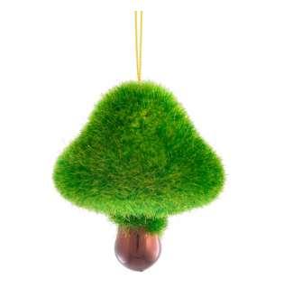 """Іграшка Yes! Fun новорічна """"Лісовий гриб"""" d-5.5 см, зелений"""