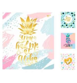 А5 / 24 кл. YES мат. ламінація + фольга золото + гліттер золото Pineapple, зошит(ціна за 10шт.)