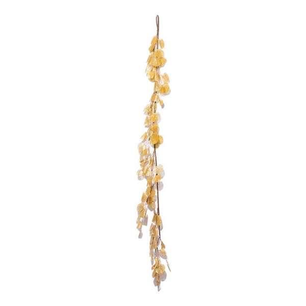 Гілка декоративна Yes! Fun с листям, 150 см, золотая