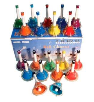 Дзвіночки ручні , 20 штук для навчання дітей від 3 років Maxtone BLA-20C/N