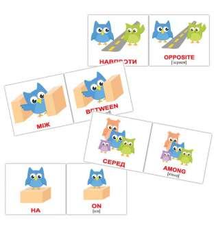 Карточки Домана Предлоги/Prepositions мини-20