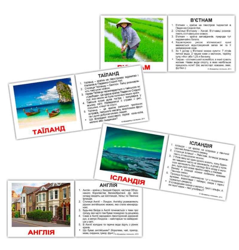 Картки Домана Країни з фактами міні-40