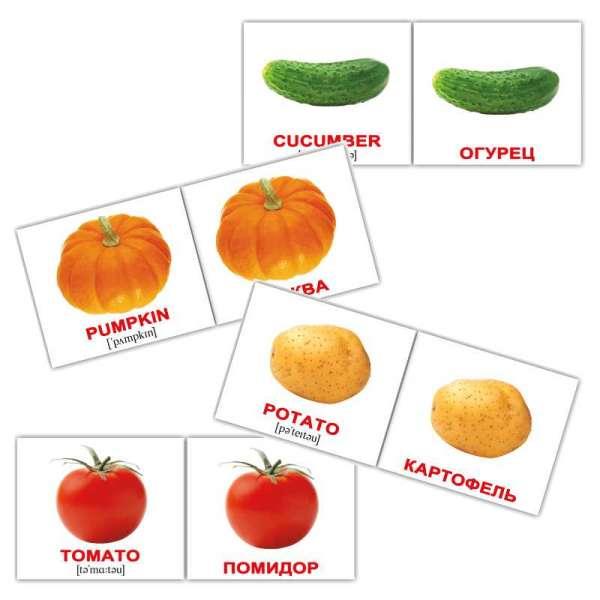 Карточки Домана Овощи/Vegetables мини-40