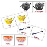 Карточки Домана Посуда/Kitchenware мини-20