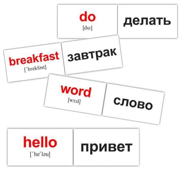Карточки Домана 120 основных английских слов мини-120
