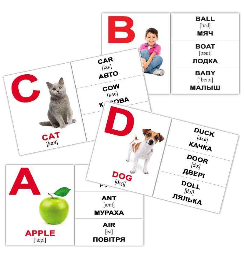 Картки Домана Alphabet міні-26