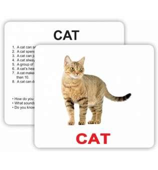 Английские карточки Домана с фактами Pets and farm animals with facts