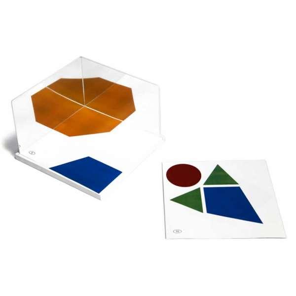 Набір дзеркал 2 шт, 150x100x1,5 мм, підставка 16x16 см картки 15 шт