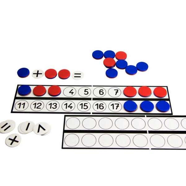 Дошка для учнів (30x7 см,) з фішками (22) і знаками (10)