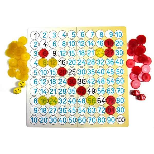 Математична гра - дошка множення