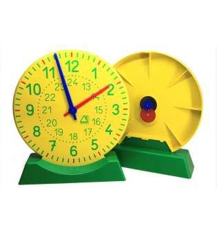 Демонстраційна модель механічного годинника для вчителя з підставкою, D27 см