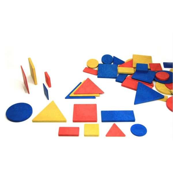 Логічні блоки дьенеша, 48 штук, в картонній коробці