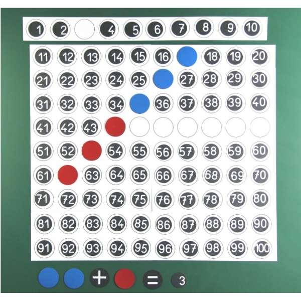 Магнітна дошка множення з додатковими цифрами, 50х50 см