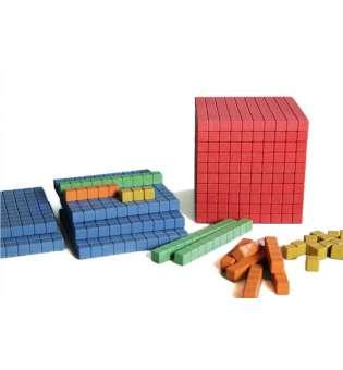 Математичний куб, набір одиниці об'єму, дерево, 141 частини
