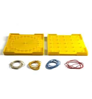 Математичний планшет двосторонній жовтий, 15x15см, пластик