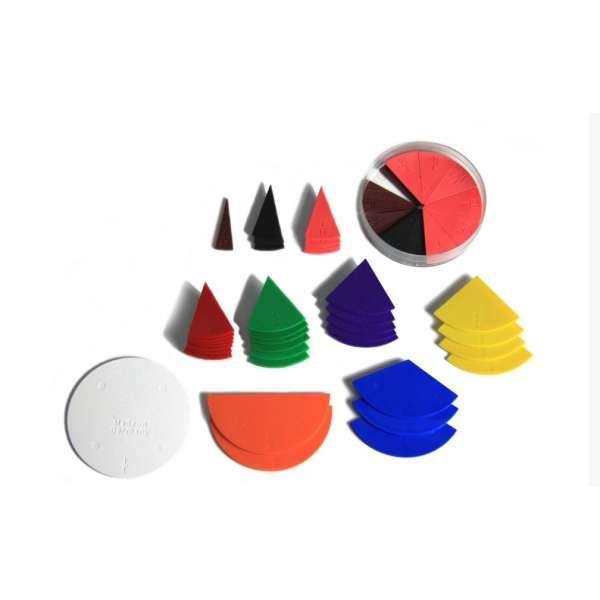 Набір частини цілого на крузі. прості дроби, пластик, 10 см