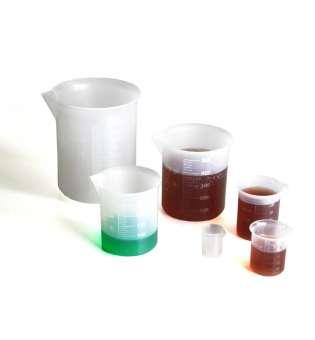 Набір мірного посуду (пластиковий) 6 склянок, 1000/500/250/100/50/10мл
