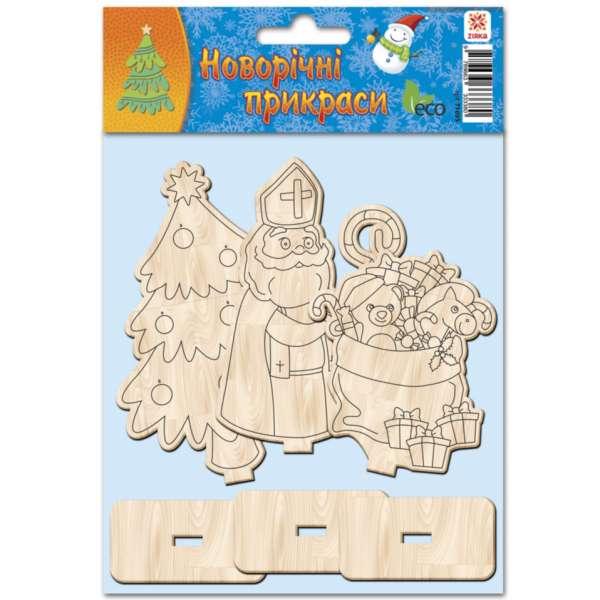 Дерев''яні новорічні іграшки в асортименті 3 фігурки в наборі